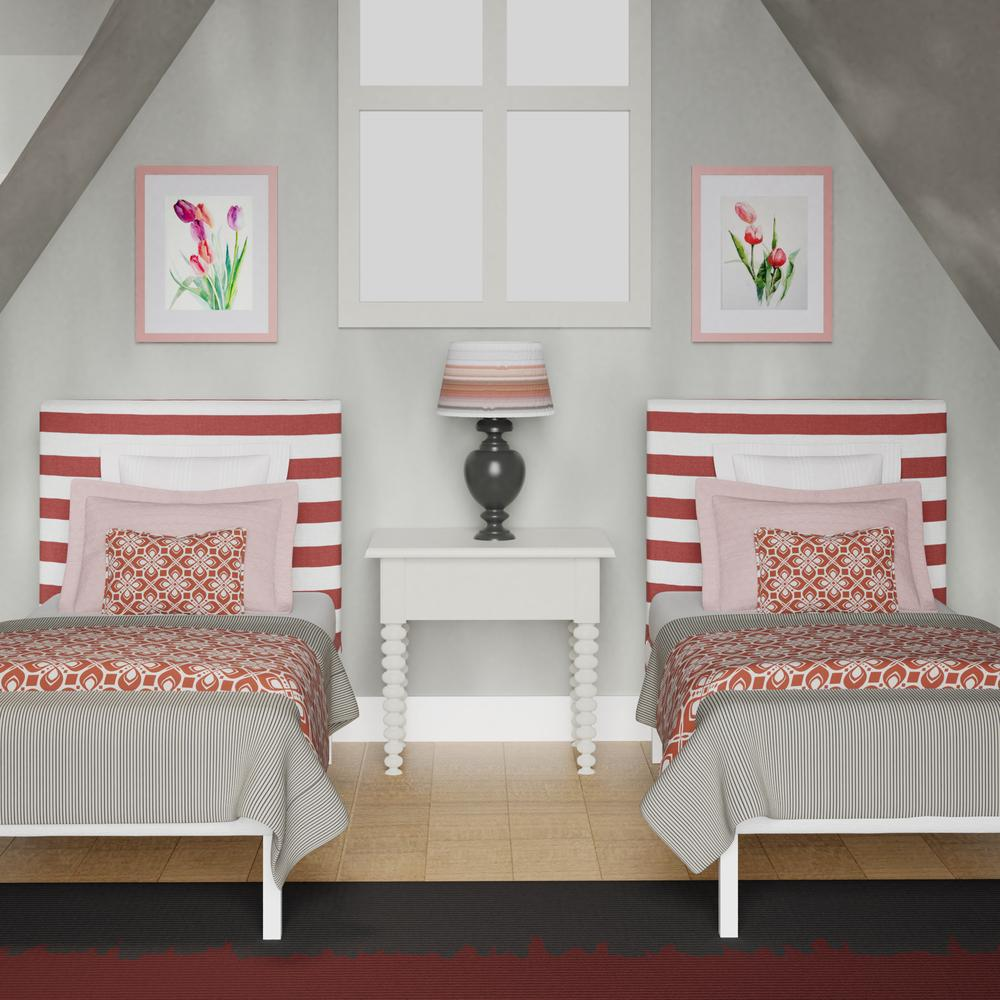 Yushan single bed in red stripes