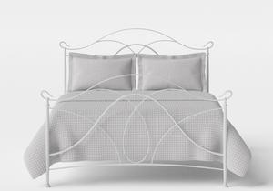 Ardo Iron/Metal Bed in Satin White - Thumbnail