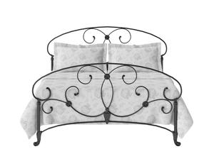 Arigna Iron/Metal Bed in Satin Black  - Thumbnail