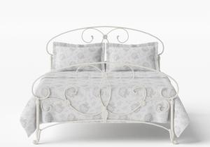 Arigna Iron/Metal Bed in Glossy Ivory - Thumbnail