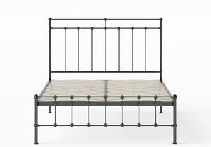 Ashley Iron/Metal Bed in Satin Black shown with slatted frame - Thumbnail
