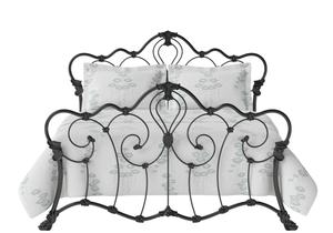 Athalone Iron/Metal Bed in Satin Black  - Thumbnail