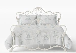 Athalone Iron/Metal Bed in Glossy Ivory  - Thumbnail