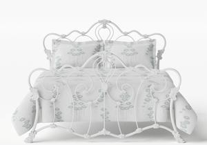 Athalone Iron/Metal Bed in Satin White  - Thumbnail