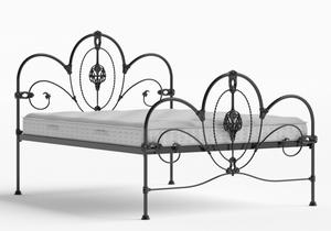 Ballina Iron/Metal Bed in Satin Black shown with Juno 1 mattress - Thumbnail