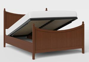 Blake Wood Bed in Dark Cherry shown with ottoman base - Thumbnail