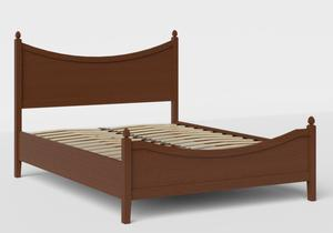 Blake Low Footend Wood Bed in Dark Cherry shown with slatted frame - Thumbnail