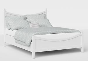 Blake Low Footend Wood Bed in White - Thumbnail