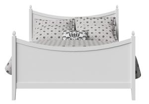 Blake Wood Bed in White - Thumbnail