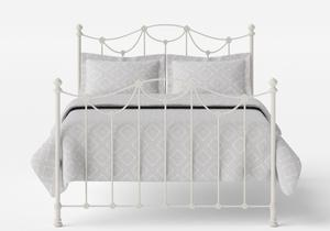 Carie Iron/Metal Bed in Glossy Ivory  - Thumbnail