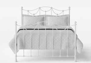 Carie Iron/Metal Bed in Satin White - Thumbnail