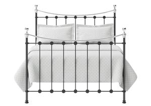 Carrick Iron/Metal Bed in Satin Black with chrome details  - Thumbnail