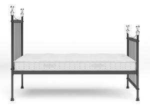 Carrick Iron/Metal Bed in Satin Black with chrome details shown with Juno 1 mattress - Thumbnail
