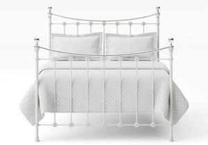 Carrick Iron/Metal Bed in Glossy Ivory with chrome details  - Thumbnail