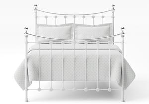 Carrick Iron/Metal Bed in Satin White with chrome details  - Thumbnail