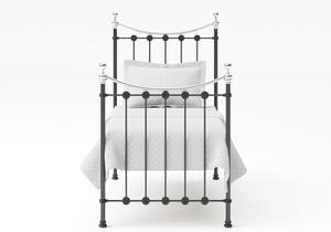 Carrick Single Iron/Metal Bed in Satin Black with Chrome details - Thumbnail