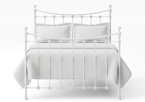 Carrick Iron/Metal Bed in Satin White with white painted details - Thumbnail