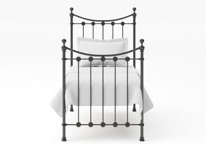 Carrick Single Iron/Metal Bed in Satin Black with black painted details - Thumbnail