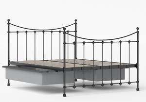Chatsworth Iron/Metal Bed in Satin Black shown with underbed storage - Thumbnail