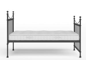 Chatsworth Iron/Metal Bed in Satin Black shown with Juno 1 mattress - Thumbnail