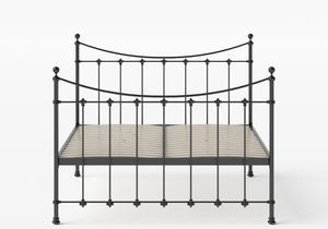 Chatsworth Iron/Metal Bed in Satin Black shown with slatted frame - Thumbnail