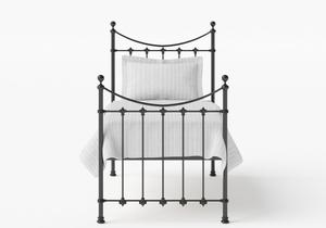 Chatsworth Single Iron/Metal Bed in Satin Black - Thumbnail