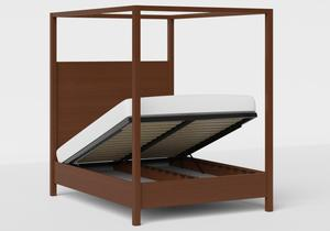 Churchill Wood Bed in Dark Cherry shown with ottoman base - Thumbnail