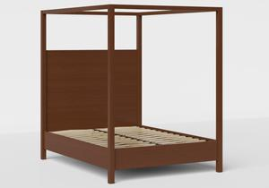 Churchill Wood Bed in Dark Cherry shown with slatted frame - Thumbnail