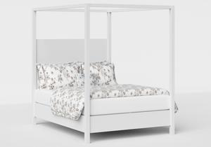 Churchill Wood Bed in White - Thumbnail