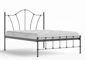 Claudia Iron/Metal Bed in Satin Black shown with Juno 1 mattress - Thumbnail