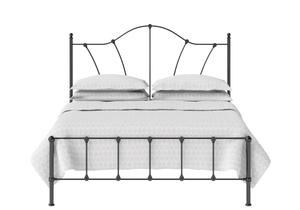 Claudia Iron/Metal Bed in Satin Black - Thumbnail