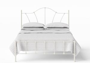 Claudia Iron/Metal Bed in Glossy Ivory - Thumbnail