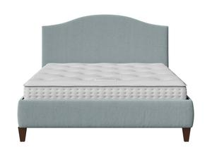 Daniella Upholstered bed in Wedgewood fabric shown with Juno 1 mattress - Thumbnail