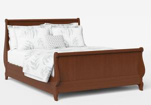 Elliot Wood Bed in Dark Cherry - Thumbnail