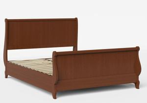 Elliot Wood Bed in Dark Cherry shown with slatted frame - Thumbnail