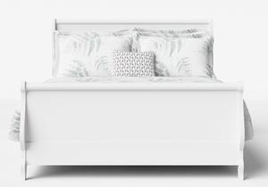Elliot Wood Bed in White - Thumbnail