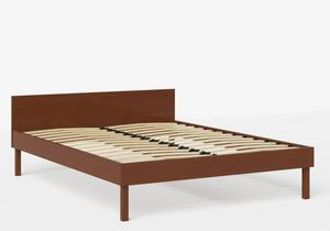 Fuji Wood Bed in Dark Cherry shown with slatted frame - Thumbnail