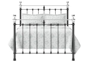 Hamilton Iron/Metal Bed in Satin Black with Chrome details  - Thumbnail