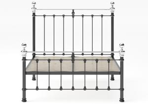 Hamilton Iron/Metal Bed in Satin Black with Chromed details - Thumbnail