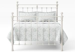 Hamilton Iron/Metal Bed in Glossy Ivory with ivory painted details  - Thumbnail