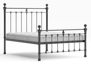 Hamilton Iron/Metal Bed in Satin Black with black painted details - Thumbnail