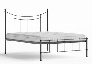 Isabelle Iron/Metal Bed in Satin Black shown with Juno 1 mattress - Thumbnail