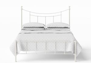 Isabelle Iron/Metal Bed in Glossy Ivory - Thumbnail