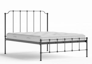 Julia Iron/Metal Bed in Satin Black shown with Juno 1 mattress - Thumbnail