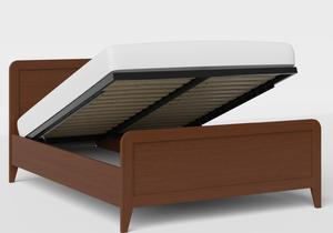 Keats Wood Bed in Dark Cherry shown with ottoman base - Thumbnail