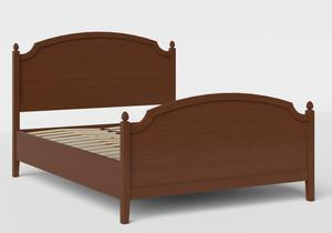 Kipling Wood Bed in Dark Cherry shown with slatted frame - Thumbnail
