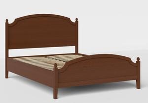 Kipling Low Footend Wood Bed in Dark Cherry with slatted base - Thumbnail