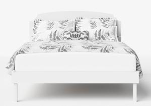 Kobe Wood Bed in White - Thumbnail