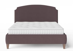 Lide Upholstered Bed in Aubergine fabric shown with Juno 1 mattress - Thumbnail