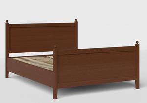 Marbella Wood Bed in Dark Cherry shown with slatted frame - Thumbnail